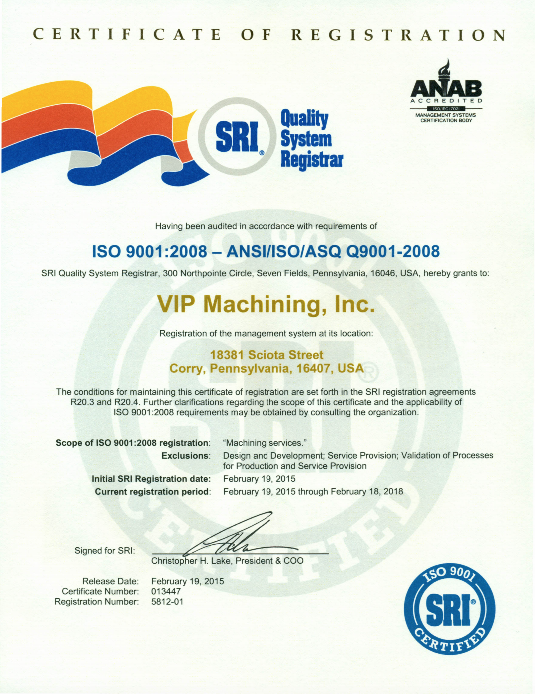 Iso certification vip machining iso certification 1betcityfo Gallery